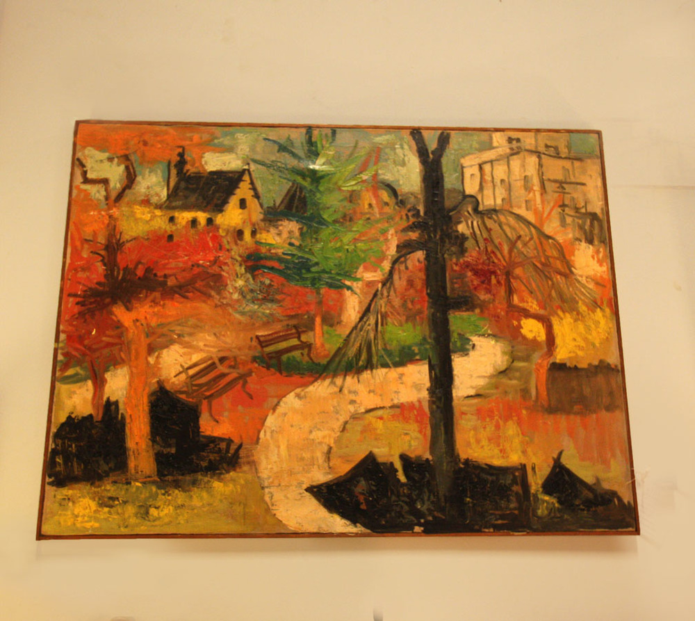 Hiden Galleries: abstract of Central Park by Stigliani, listed artist