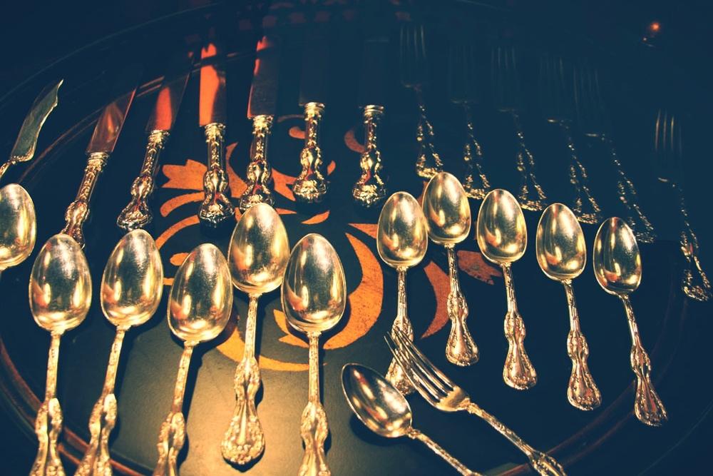 Hiden Galleries: service for 6 silverplate, E. H. H. Smith Bridgeport, c1910