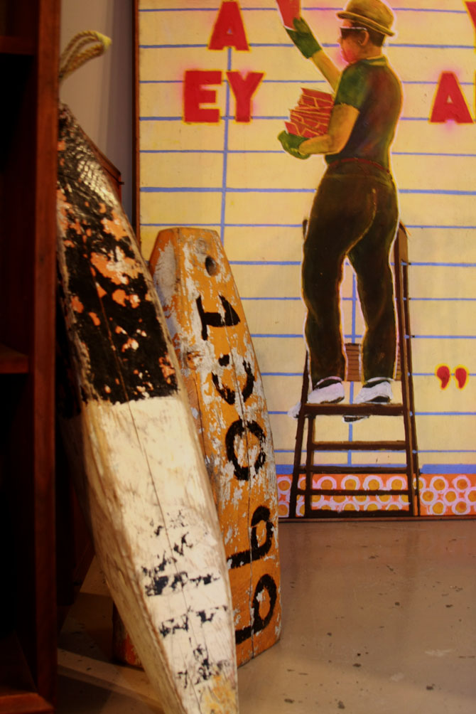 Hiden Galleries: 1967 Alex Siburney painting; 2 buoys