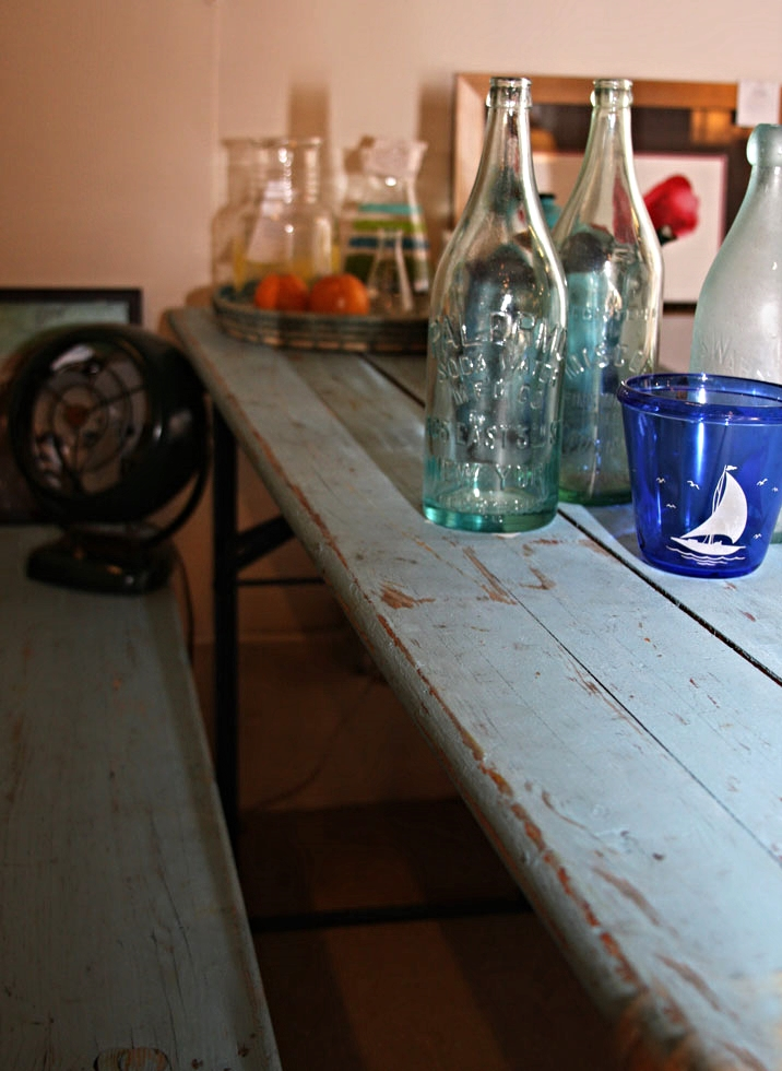 Hiden Galleries: vintage Belgian pub table with benches