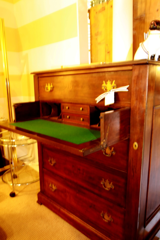 Walnut butler's chest with desk, c1890-1900