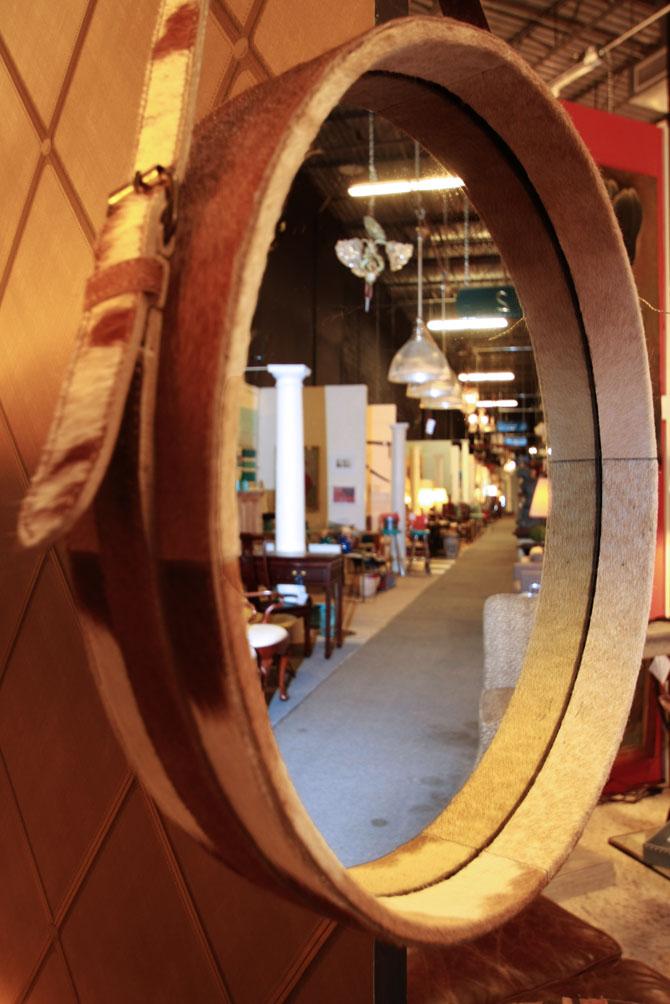 Hiden Galleries: hide-covered mirror