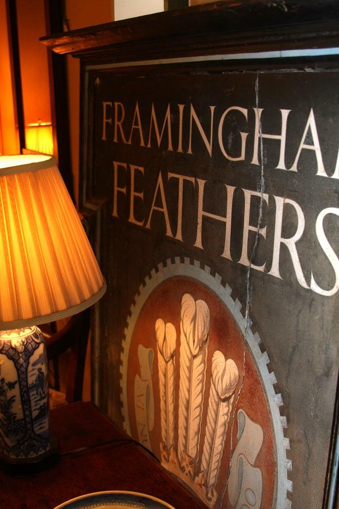 Hiden Galleries: Framingham Feathers, Bullard sign (English)
