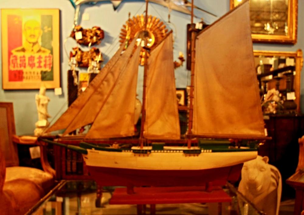 Hiden Galleries: 1930s model of a schooner