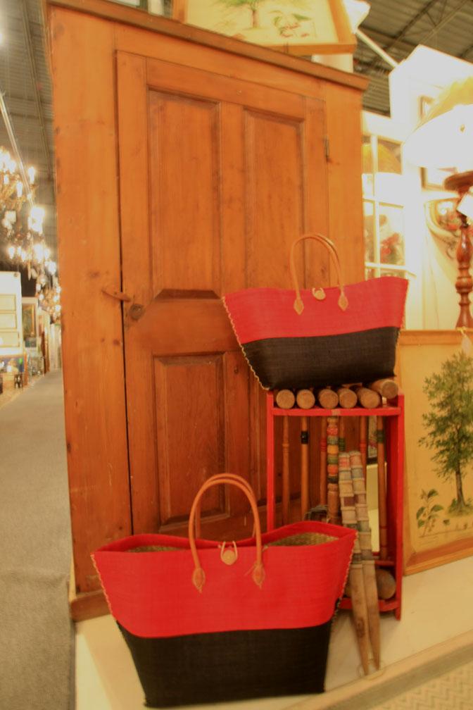 Hiden Galleries: English pine armoire; vintage croquet set