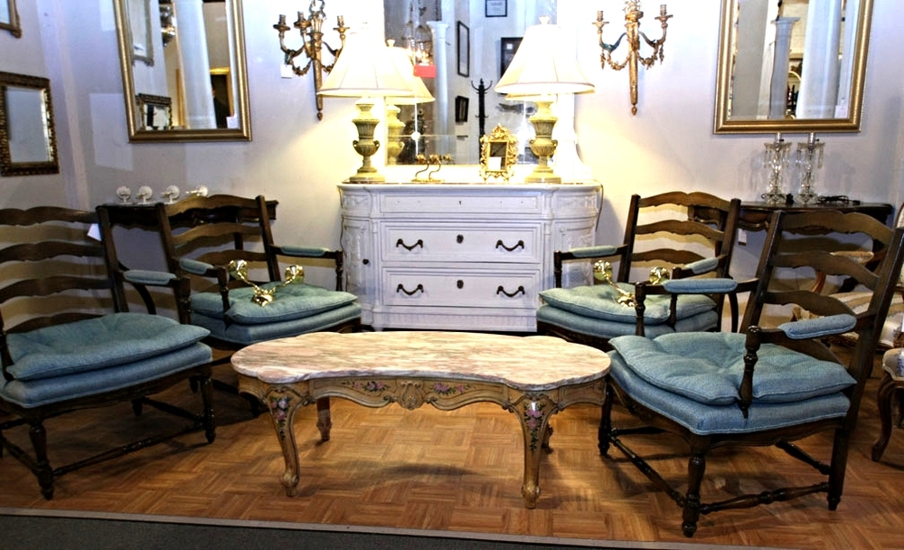 Hiden Galleries: 4 French-style armchairs