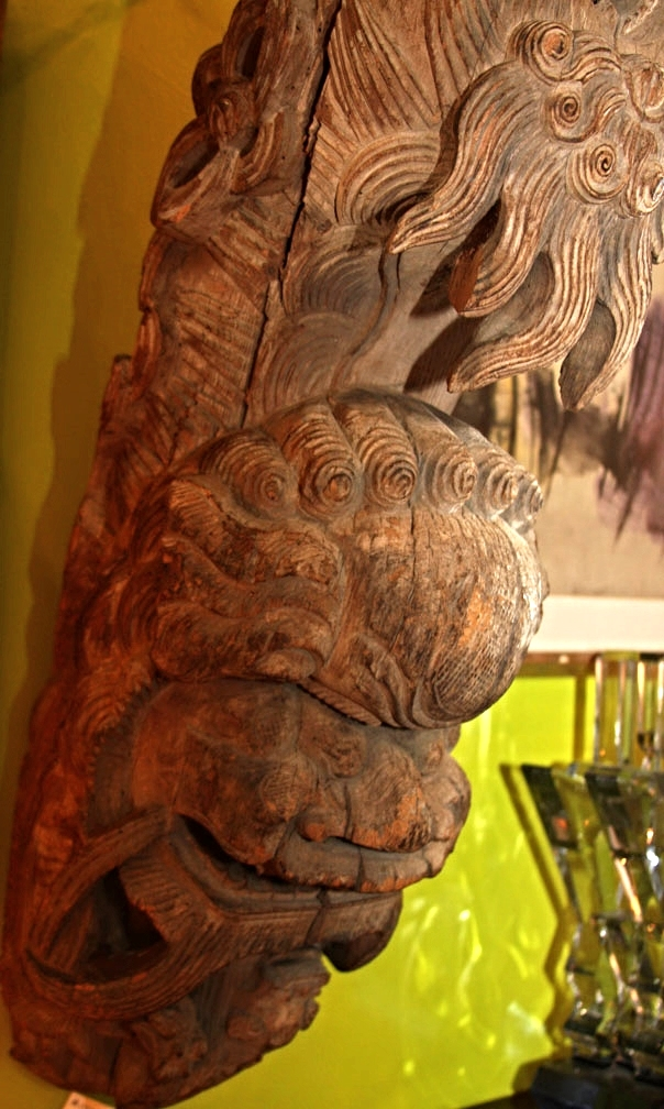 Hiden Galleries: pair of S.E. Asian corbels from a Long Island estate