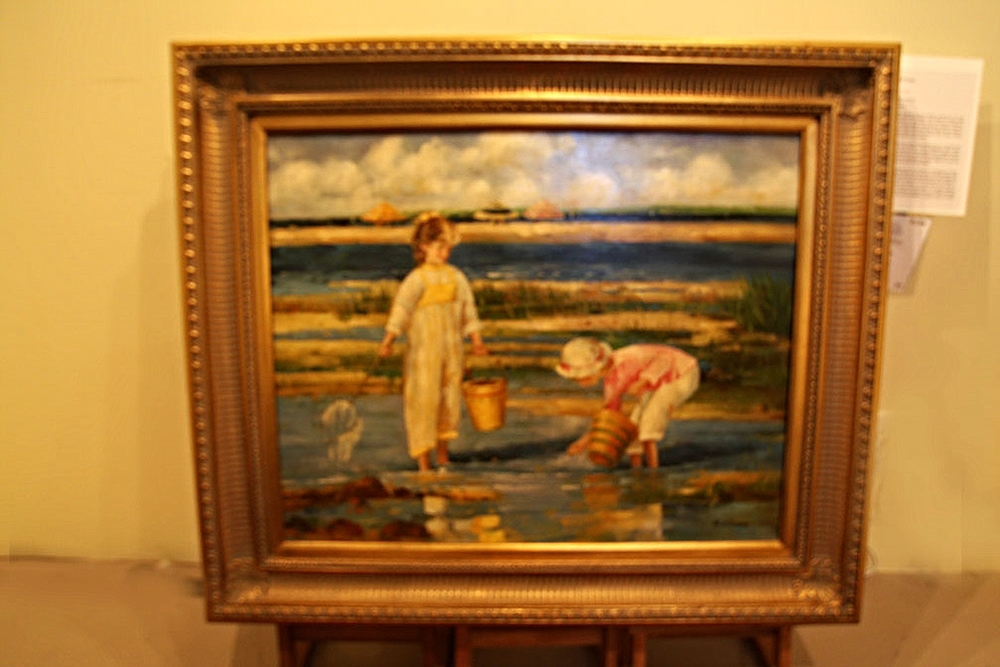 """""""Seashore"""" by Betty Morris Finney (1913-1990), granddaughter of the former Prime Minister of Australia and a Disney cartoonist"""