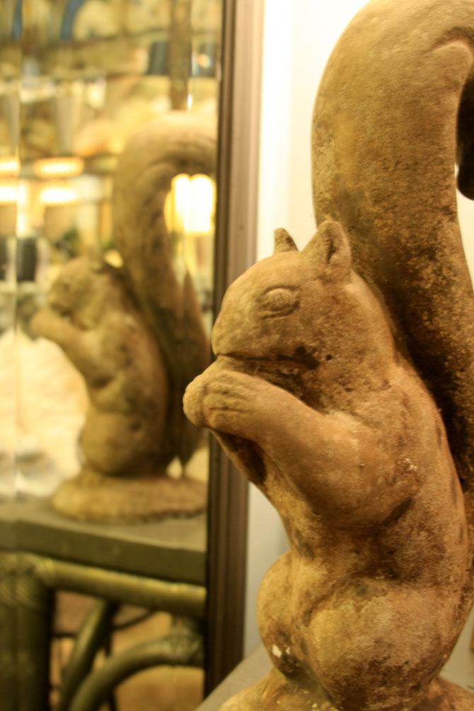 Hiden Galleries: cement squirrel