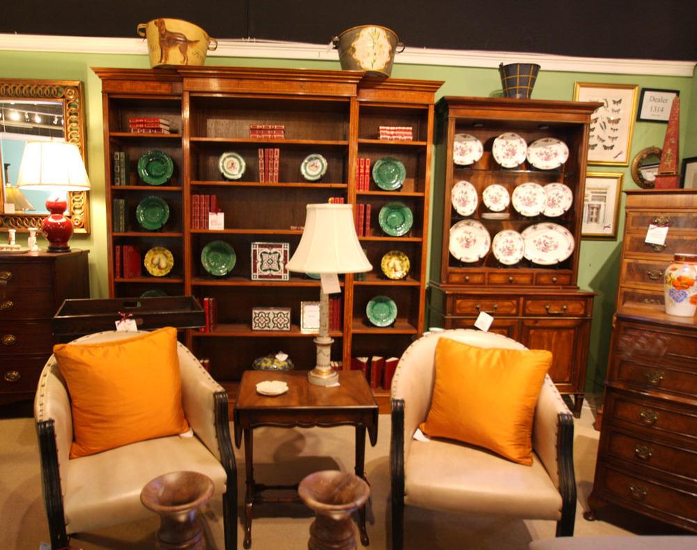 Hiden Galleries: English yew triple bookcase