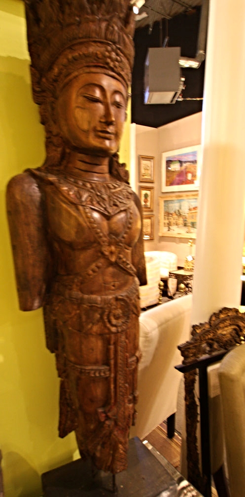 Hiden Galleries: Southeast Asian carved standing Buddha