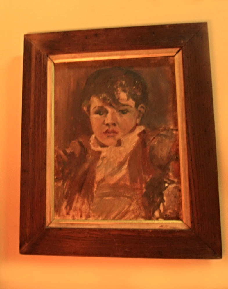 Hiden Galleries: original oil of a small boy