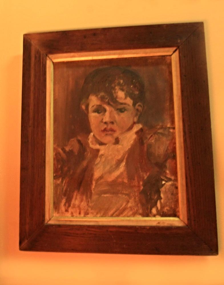 Hiden Galleries: original oil of a small boy