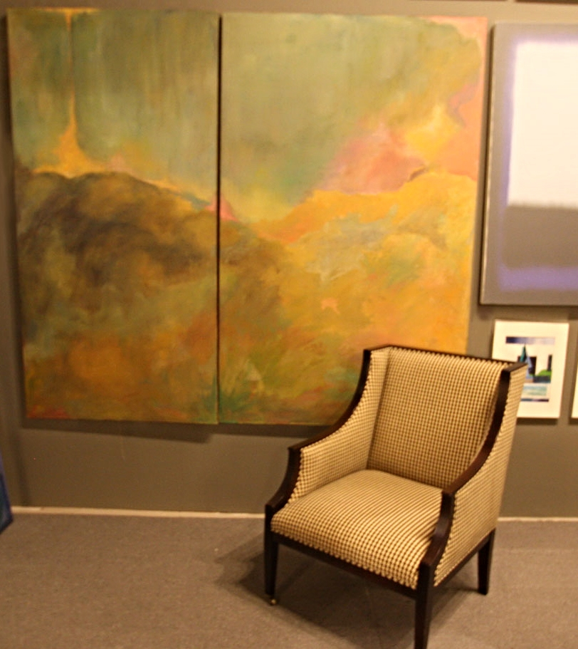 "Hiden Galleries: ""Eternity on Canvas"", two panels by Margo Krasner"