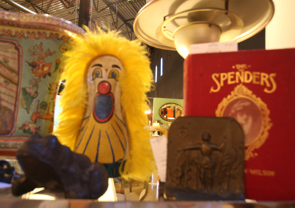 "Hiden Galleries: vintage carnival punk ""knock down"" piece"
