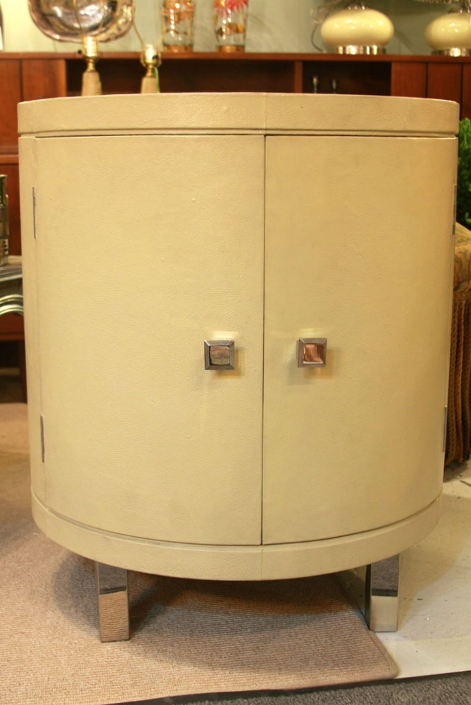 Hiden Galleries: Continental faux shagreen drum table