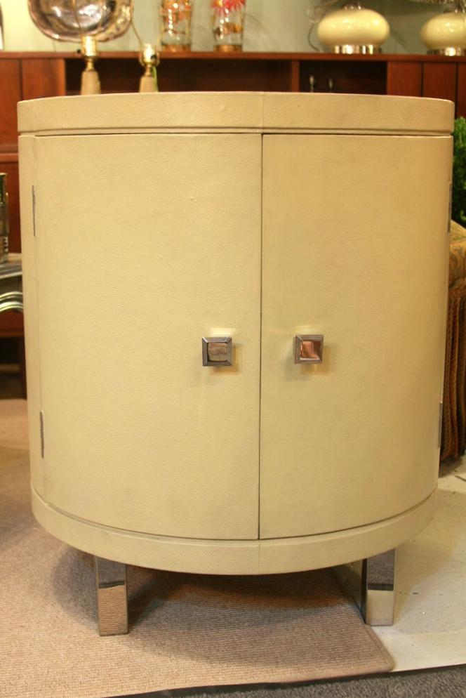 Hiden Galleries: Continental faux shagreen drum table