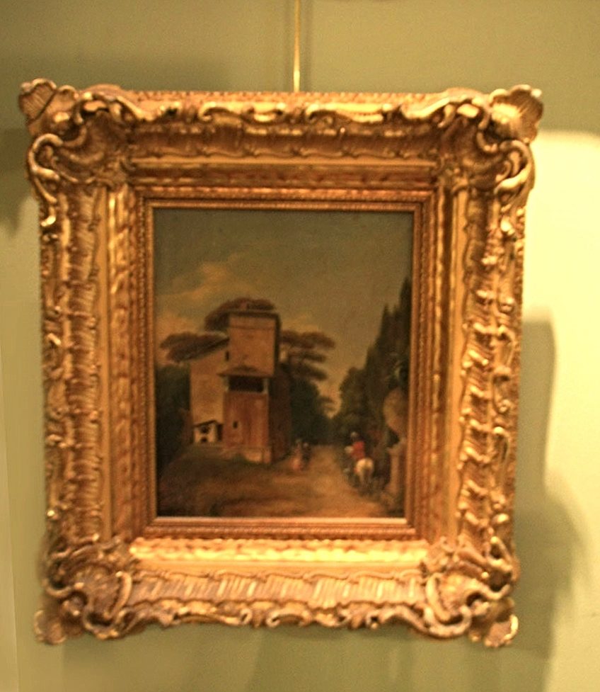 Hiden Galleries: small oil painting in ornate frame