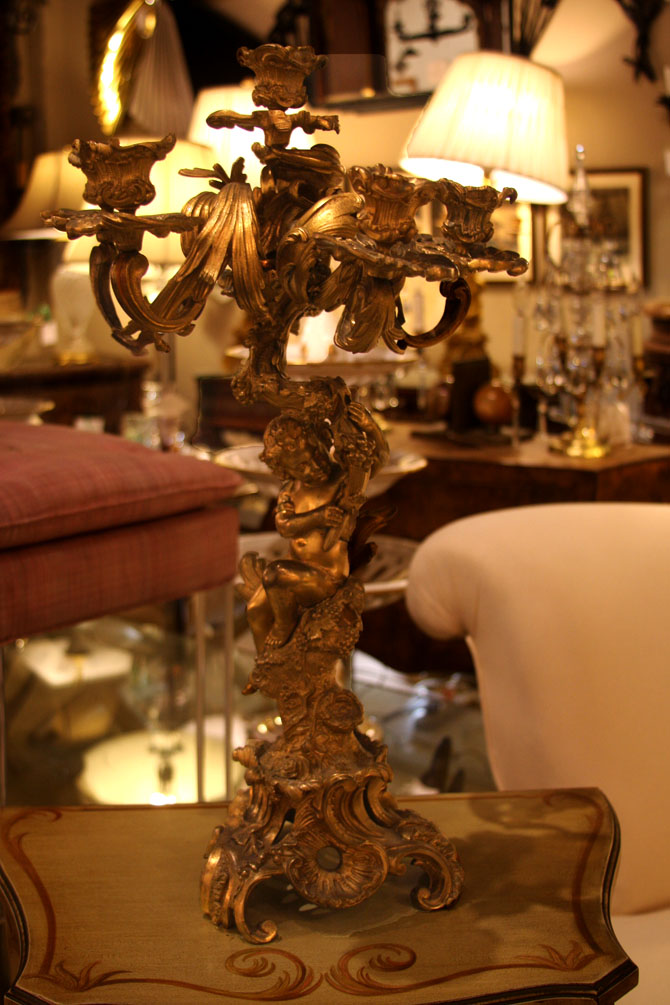 Hiden Galleries: c1880s French Dore bronze candelabra