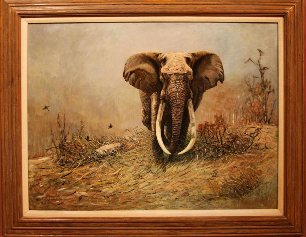 "Hiden Galleries: ""Bull Elephant"" by Grant Lamb"