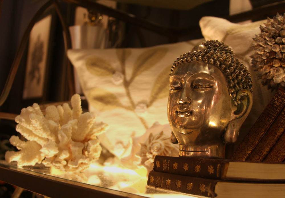 Hiden Galleries: silvered Buddha head