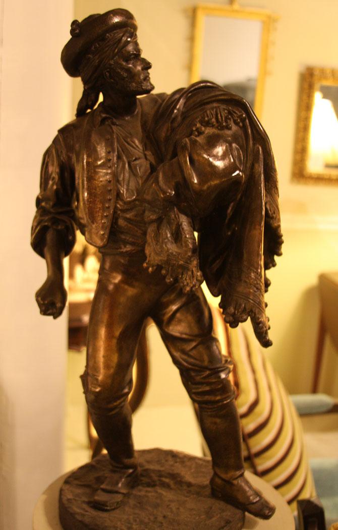 Hiden Galleries: bronze figure of a man
