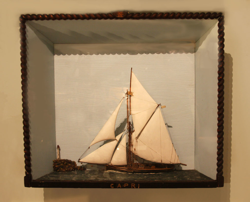 "Hiden Galleries: 19th-century diorama of the yacht ""Capri"""