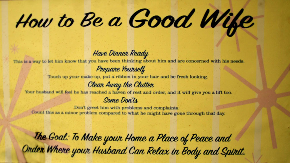 Hiden Galleries: How to Be a Good Wife poster