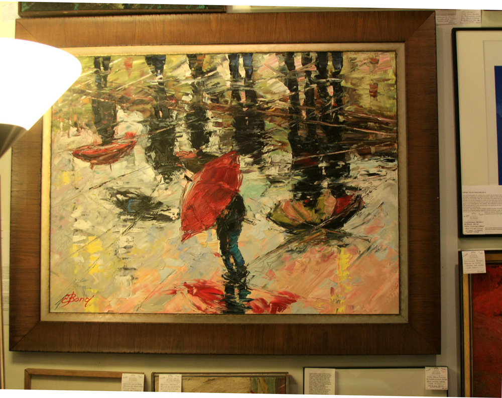 "Hiden Galleries: ""Umbrellas on Parade"" by Russian artist Elena Bond"