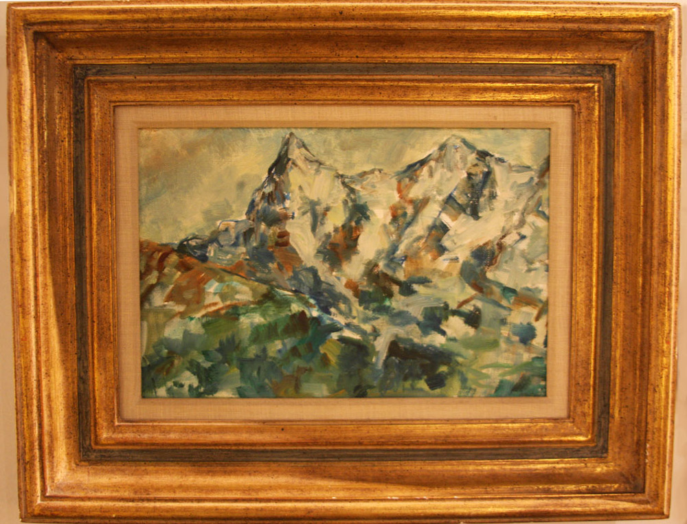 Hiden Galleries: plein air mountain scene