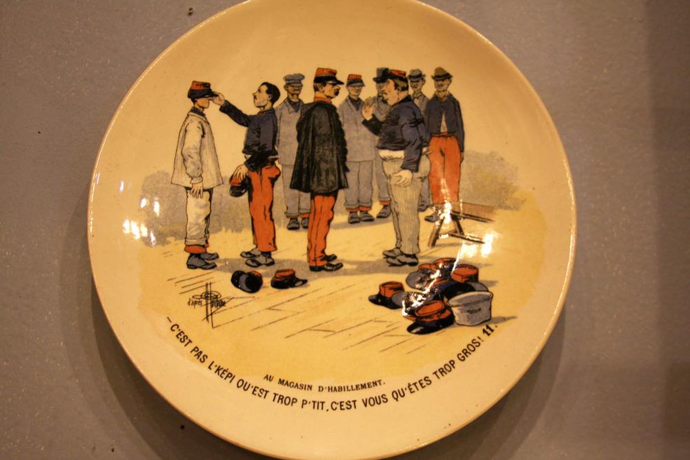Hiden Galleries: one of set of 12 Sarrequemines French regimental plates