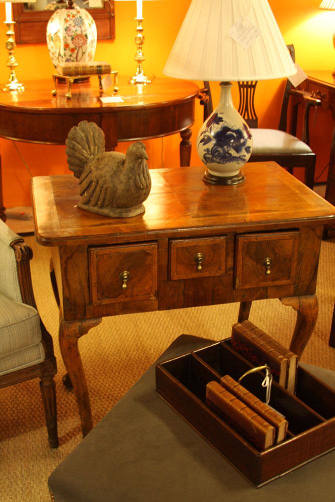 Hiden Galleries: c1750 walnut Queen Anne lowboy