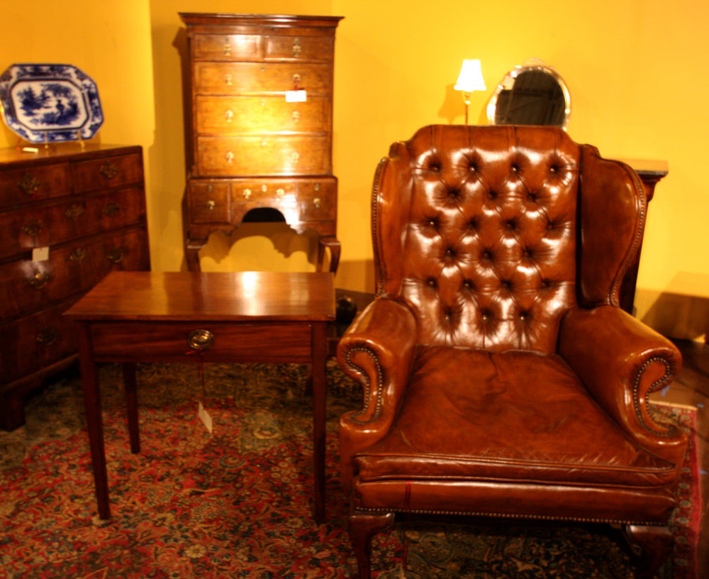 Hiden Galleries: early Georgian mahogany wingback chair, c1760