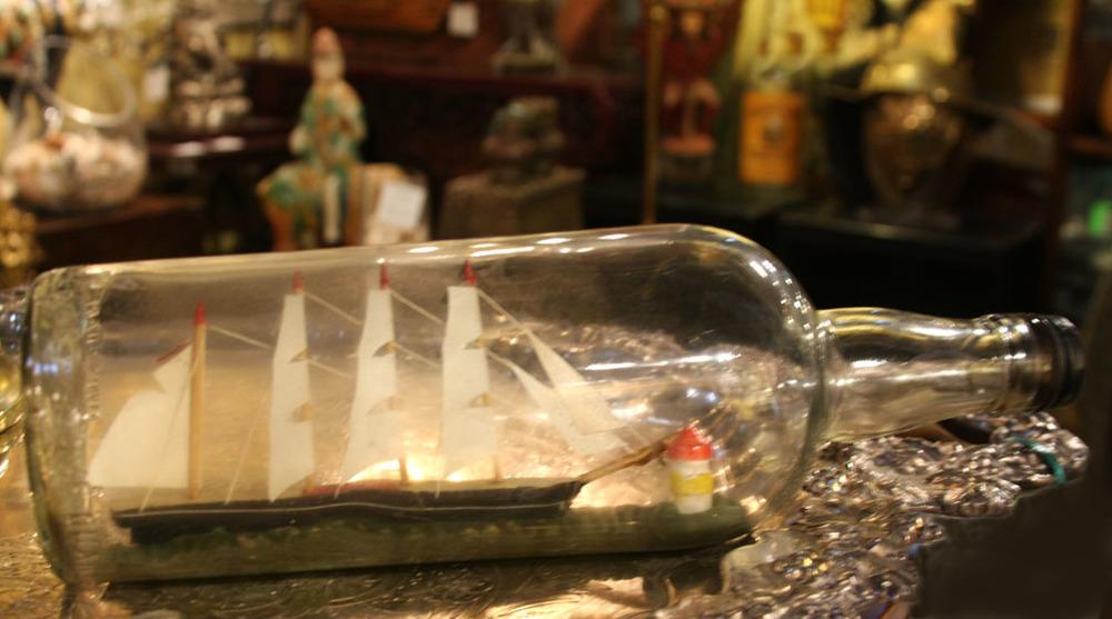 Hiden Galleries: ship in a bottle