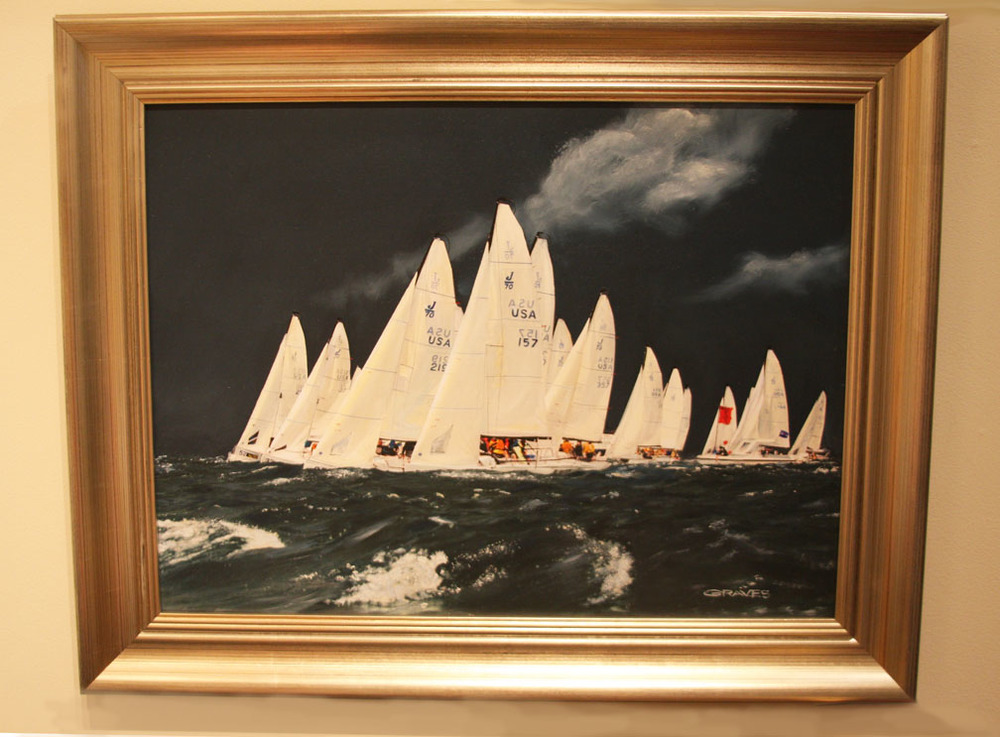 "Hiden Galleries: ""National's Start"" 18"" x 24"" oil by Thomas N. Graves"