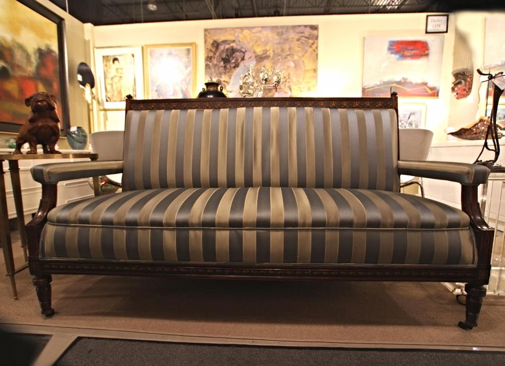 c1880s Aesthetic Movement inlaid sofa, rosewood