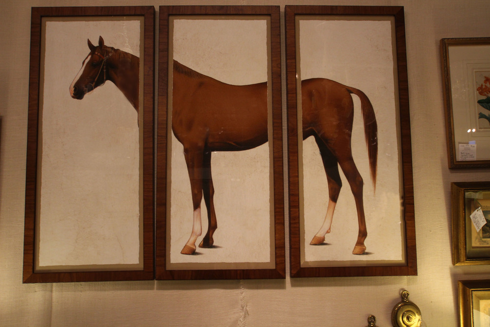 """Equus in Three Parts"", custom colored print in custom frame"