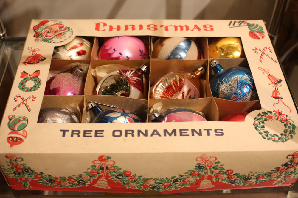 Vintage handpainted Christmas ornaments made in Poland