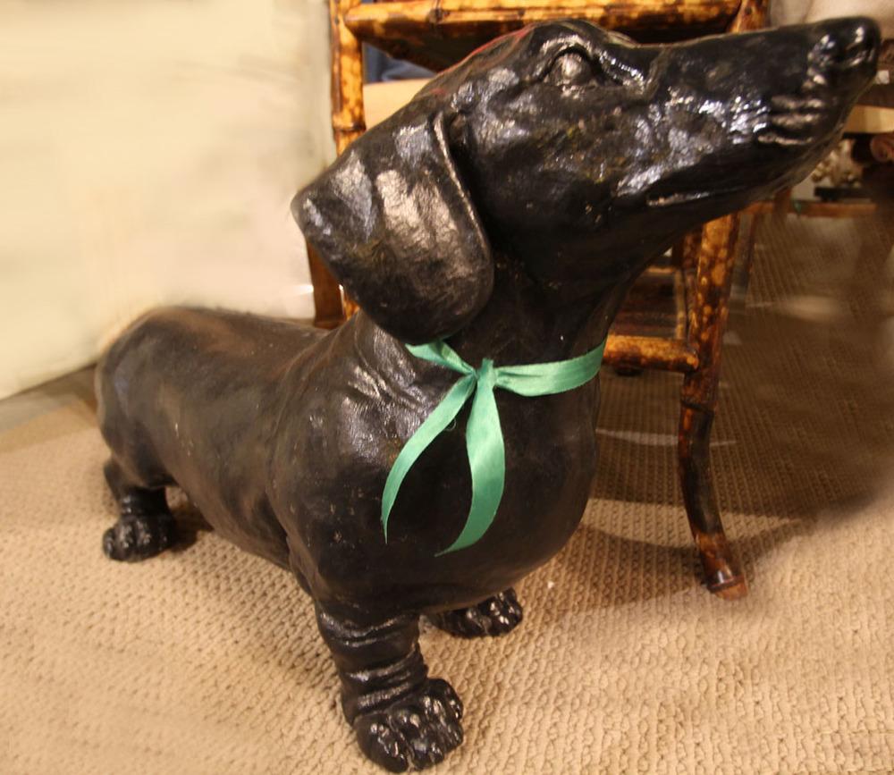 Vintage iron dachshund
