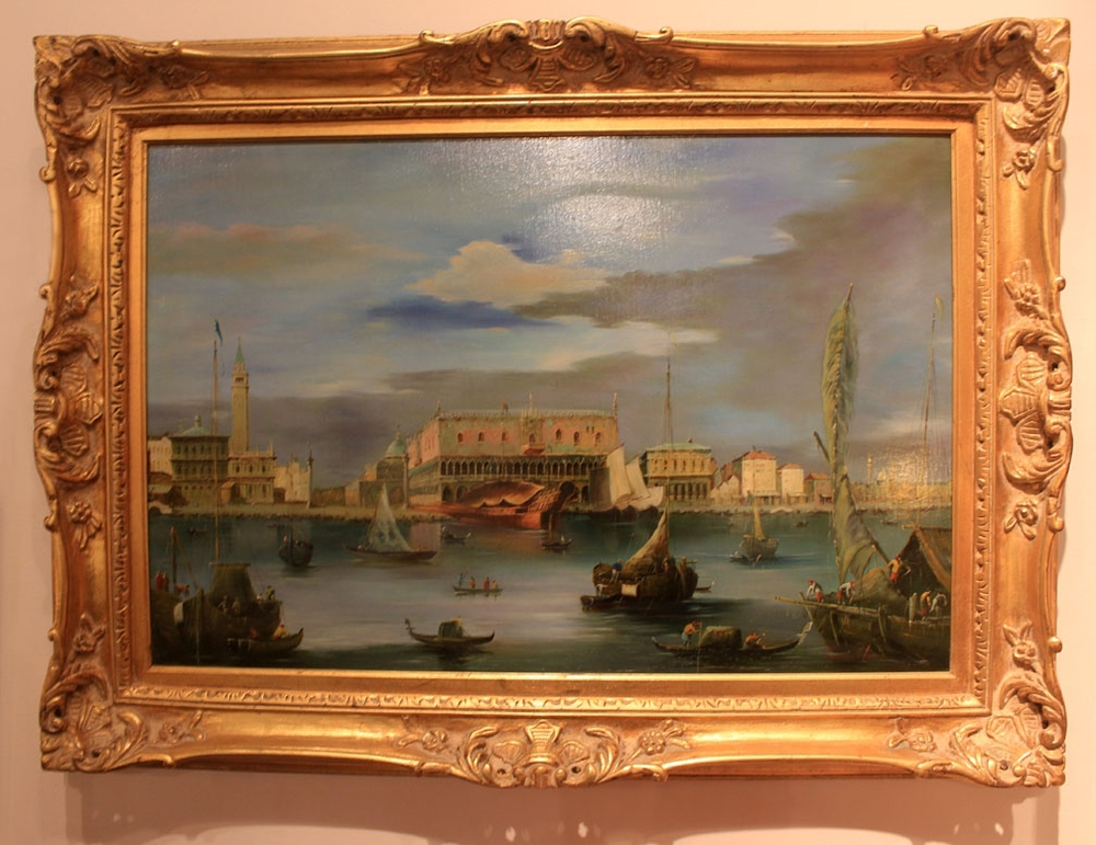 "Hiden Galleries: signed oil ""Venice Canal Scene"""