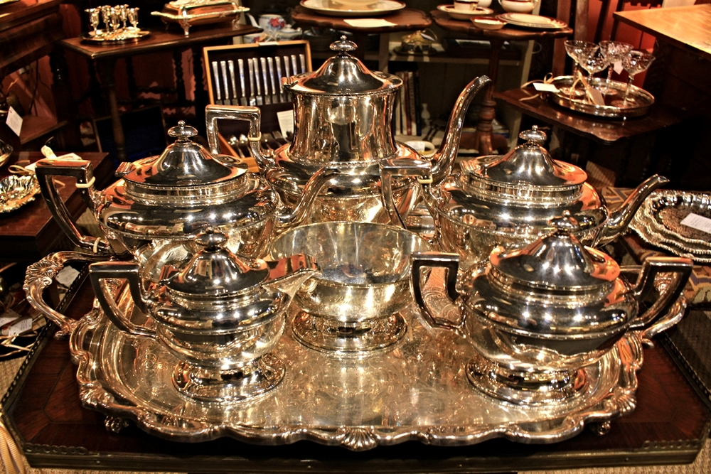 "Hiden Galleries: rare 6-pc silverplate service by John Torsleff, Boston, 1861-68, engraved ""Paul"""