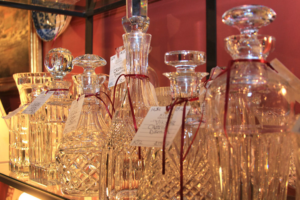 Hiden Galleries: crystal decanters