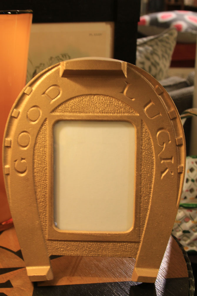 Hiden Galleries: cast-iron picture frame, probably 1890-1910