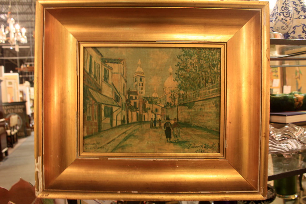 "Hiden Galleries: 1937 Maurice Utrillo print ""Montmartre"""