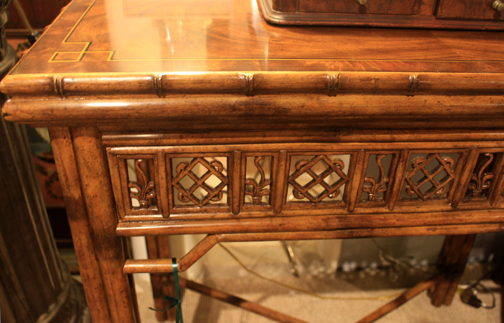 Hiden Galleries: detail of bamboo style table