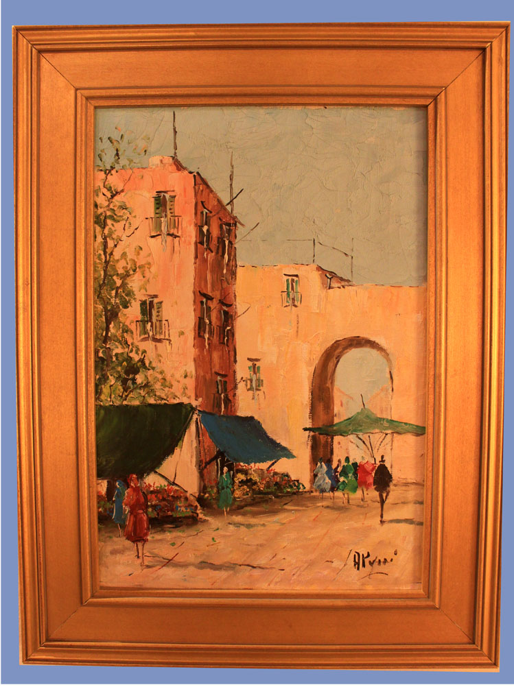 Hiden Galleries: 1950s painting, signed by artist