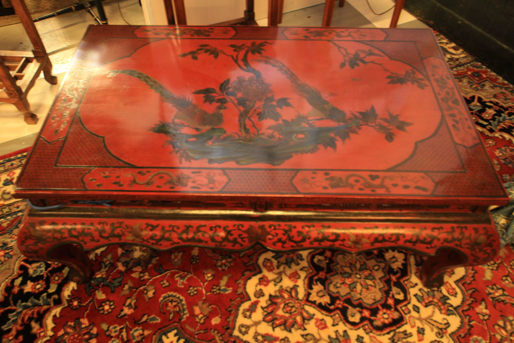 Hiden Galleries: antique red Chinese table