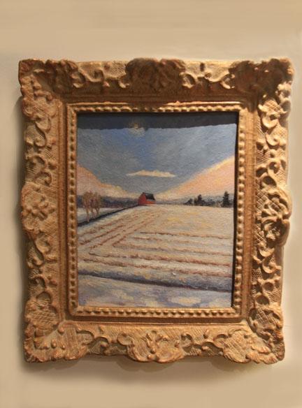 Hiden Galleries: original oil of a Connecticut tobacco farm