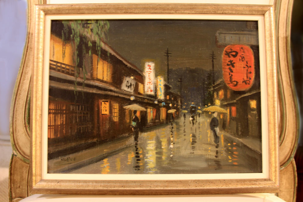 Hiden Galleries: original oil by Hayashi Nobuo, c1956