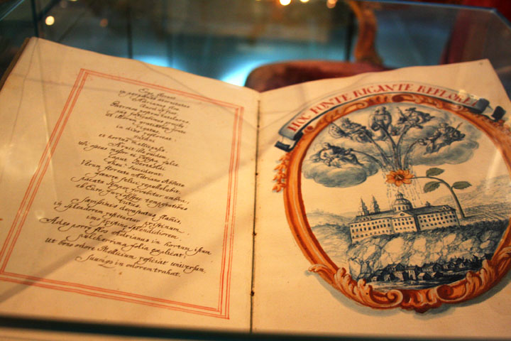 One of the ancient manuscripts in the museum   photo by Morgan Thomas, 2014